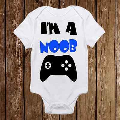 Geeky Baby Onesie I'm a Noob- Baby Girl or Boy - Gamer - Ner