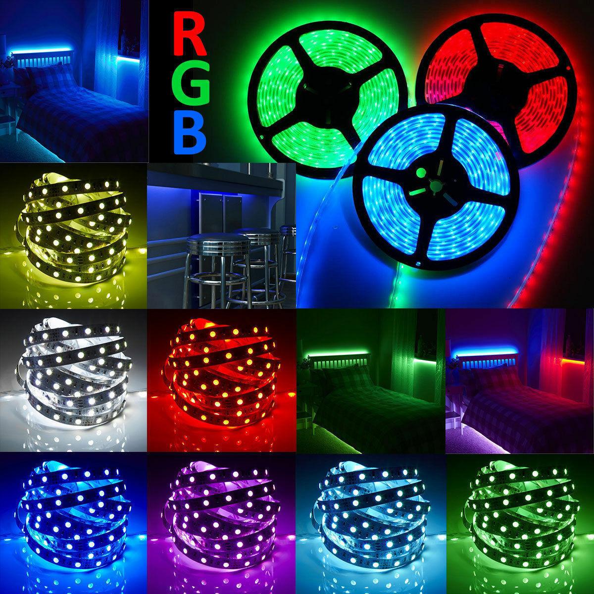 10M RGB Waterproof LED Strip Lights 5050 600 LEDs Remote 12V
