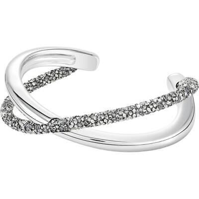 Swarovski Crystal Crystaldust Cross Cuff Bangle Grey 5348042 no -