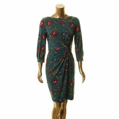 LAUREN RALPH LAUREN Women's Floral Ruched Sheath Dress TEDO