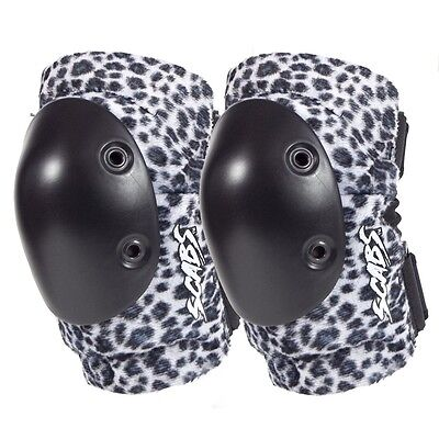 Smith Safety Gear Scabs ELITE ELBOW Skateboard Pads WHITE LEOPARD S/M