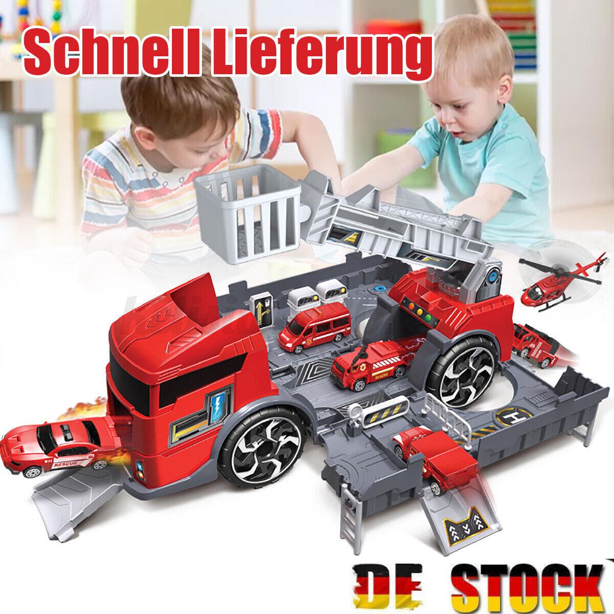 1:24 LKW Engineer Fahrzeug Feuerwehrauto Autos Parkhaus Truck Kinderspielzeug DE