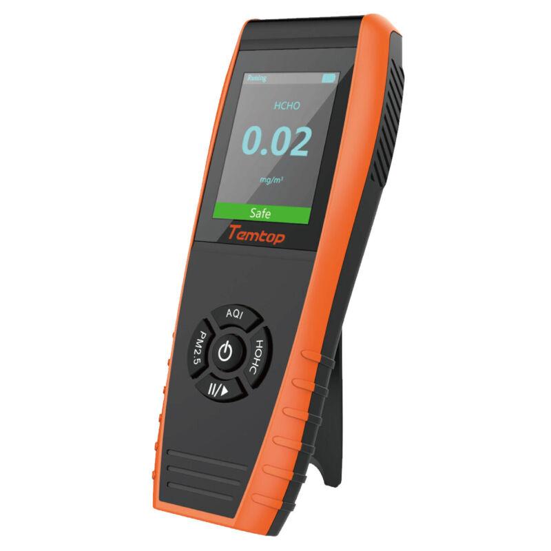 Used Temtop LKC-1000E Air Quality Detector Monitor PM 2.5 PM 10 HCHO AQI Monitor