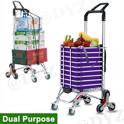 Foldable Shopping Cart Portable Aluminum Utility Grocery Carts Swivel Wheels Us