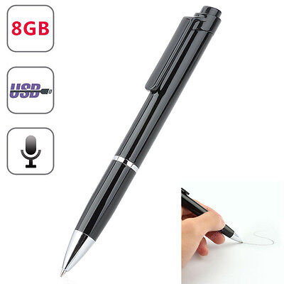 8GB SPY Hidden sound Audio Voice Recorder Pen USB Mini Portable Rechargeable