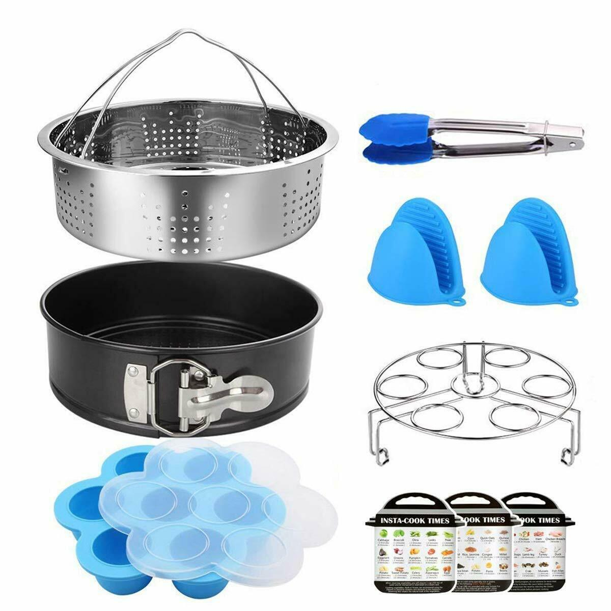 10 Pcs Instant Pot Accessories Steamer Set Fit 5/6/8 Qt Pres