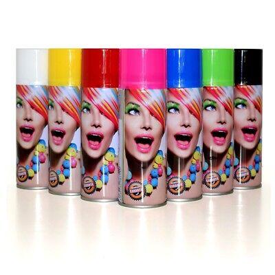 Color Haarspray 250ml | 7 Farben | Haarfarben Fasching Karneval Halloween (Halloween Haar Farbe)