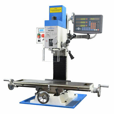 Pm-30mv Vertical Bench Type Milling Machine Variable Speed 3-axis Dro Ships Free