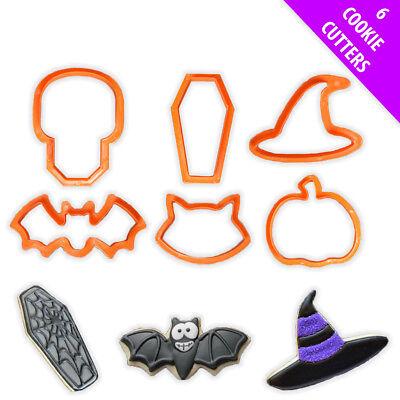 Plastic Cookie Cutters Bat Witch Pumpkin Cat Shape Biscuit (Halloween Spooky Cat)