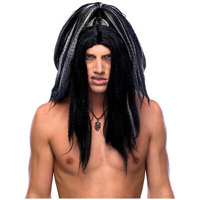Voodoo Witch Doctor Men's Headhunter Savage Cannibal Costume Wig (Men's Voodoo Costume)