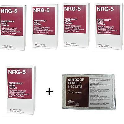 1kg/17€  Notverpflegung 45 Riegel 5 X NRG-5 Notration Notnahrung Survival 2,5kg