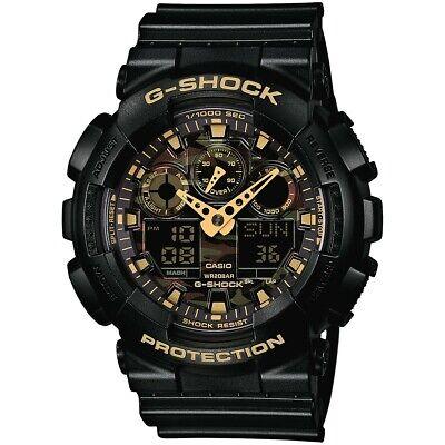 Casio G-SHOCK GA100CF-1A9 Camouflage Dial Black Analog-Digital 200m Men's Watch  G-shock 200m World Time Watch