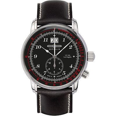 Zeppelin Big Date - Dual Time Watch 8644-2 - SERIES LZ126 Los Angeles