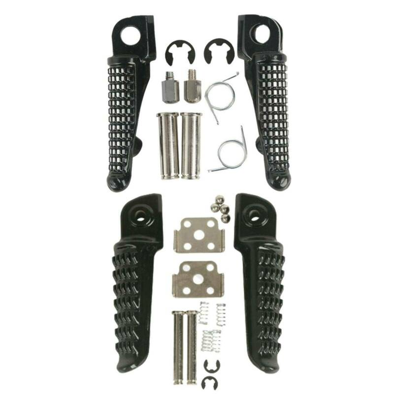 ZZR1400 ZX14 ZX-14 2006-2013 Motorcycle Front Rear Foot Pegs Footrests Pedal Z1000SX 2011-2013 ZZR1200 2000-2003 For Kawasaki Z1000 2003-2013 Black GTR1400 2008-2013