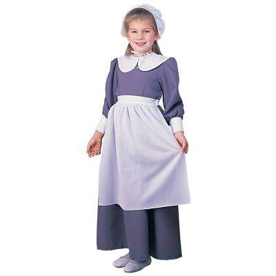 Pilgrim Mädchen Kleid Thanksgiving Kostüm Größe L Schulkind Kolonial Tage ()