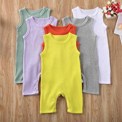 Newborn Infant Toddler Baby Girl Boy Romper Bodysuit Jumpsuit Sunsuit Clothes UK