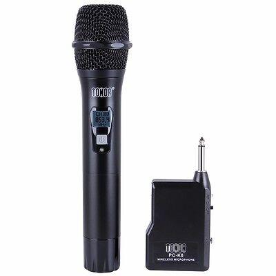 TONOR Professional Wireless Microphone Mic System Handheld VHF Mic W/ (Professional Wireless Receiver)