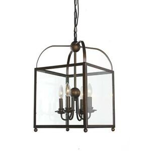 Antique Light Fixture on iron panel