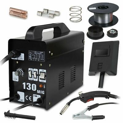 Mig 130 Gas Less Flux Core Wire Automatic Feed Welding Machine 110v Welder Kits