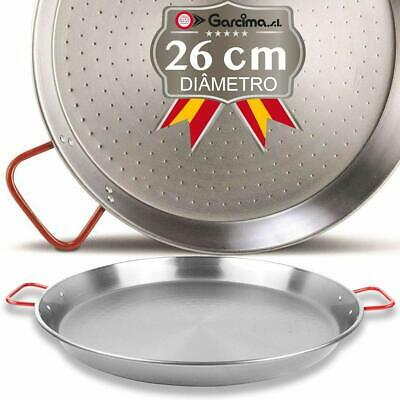 Garcima Paellera Polished Steel Paella Pan with Red Handles 22cm Cooking Pans  comprar usado  Enviando para Brazil