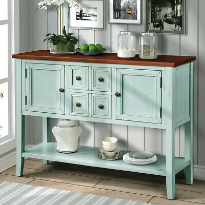 Vintage Antique Buffet Sideboard Cabinet Console Table with Drawer for -
