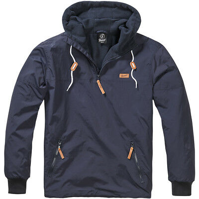 Brandit Luke Windbreaker Warm Soft Shell Hooded Sailing Windproof Jacket Navy