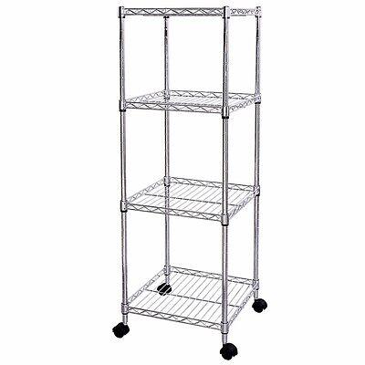 Lifewit Wire Shelf 4 Tiers Adjustable Metal Storage Iron Tower Unit Corner Rack