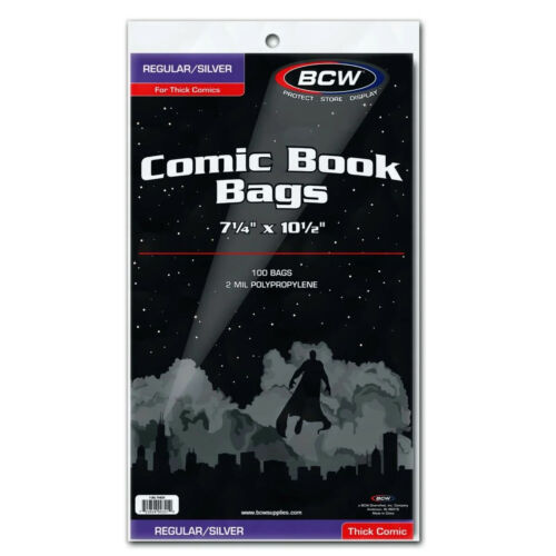Pack (100) BCW Silver Age Regular 7 1/4