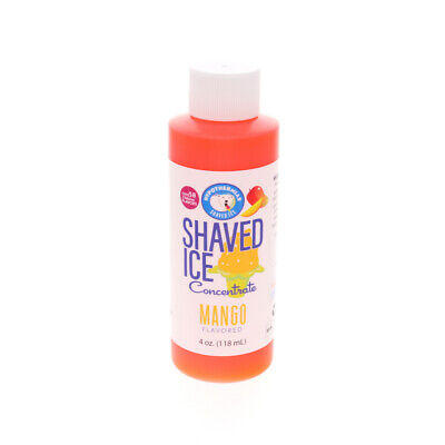 Mango Snow Cone And Hawaiian Shaved Ice Unsweetened Flavor Concentrate 4 Oz