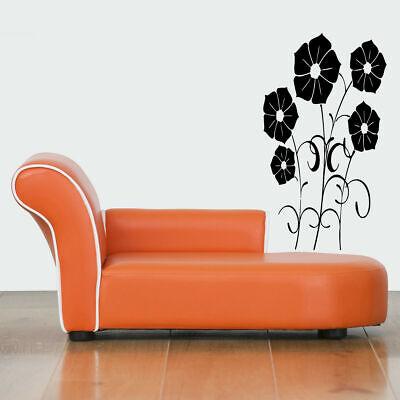 Wall Gift Vinyl Sticker Decals Mural Design Beautiful Flora Flowers Garden #430 Garden Design Decal