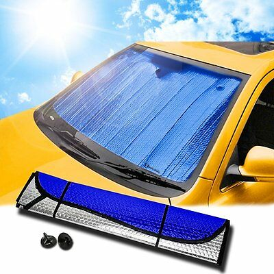 Zento Deals Auto Blue Silver Reversible Car Vehicle Windshield Window Sunshade