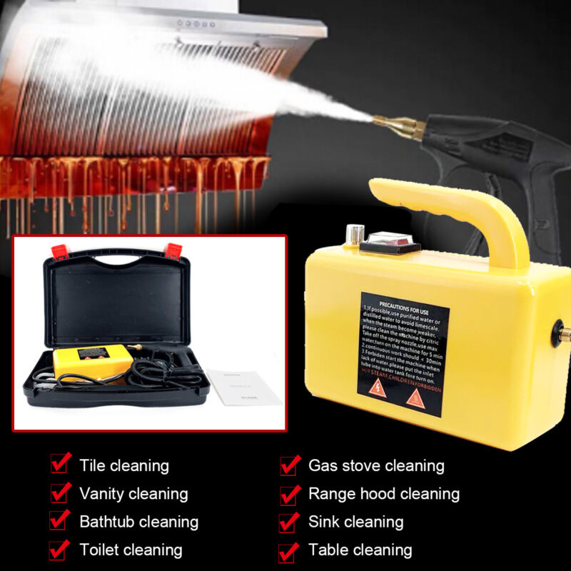 High Temp Steam Cleaner High Pressure Cleaning Machine Detailing Cleaning 1700W