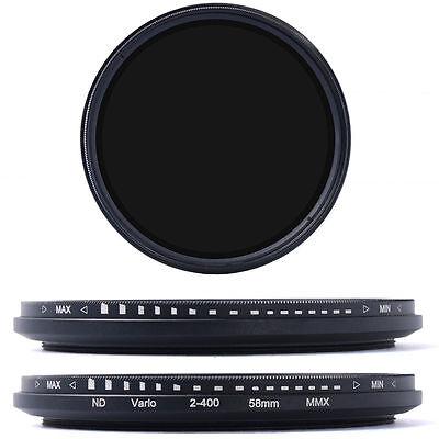 58mm Slim Fader Variable ND Filter Adjustable ND2 to ND400 Neutral Density LF111