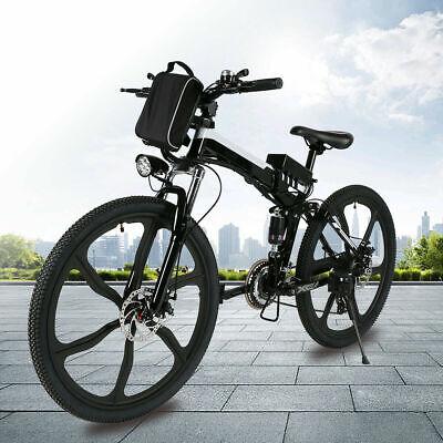 26'' Electric Bike Folding Mountain Bicycle E-Bike E-MTB 21 Speed 36V Li-lON