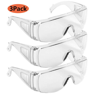 1-10pcs Safety Goggles Glasses Eyewear Clear Lens Lab Work Eye Protection Tool