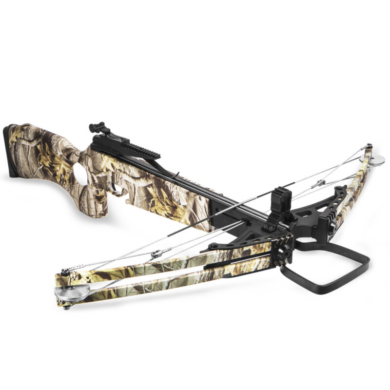 XtremepowerUS 300fps Hunting Crossbow Arrow Anti Dry Fire Aim w/ Carry Bag Camo