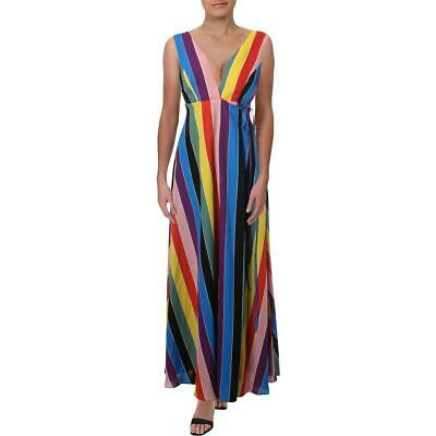 Aqua Womens Sleeveless Wrap Casual Maxi Dress BHFO 0943