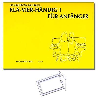 Kla-Vier-Händig 1 - mit NotenKlammer - N3729 - 9790204534838