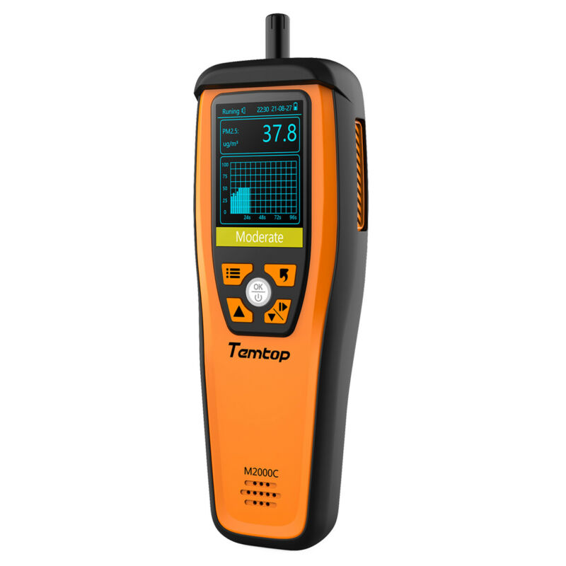 Temtop M2000C Air Quality Detector PM2.5 PM10 CO2 Particles Humidity Temperature