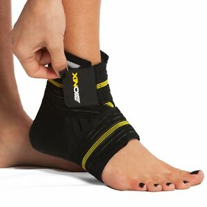 Bionix Neoprene Ankle Support Brace Foot Guard Injury Wrap Elastic Splint Strap