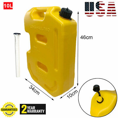 10l2.6gallon Fuel Can Gas Fuel Tank Petrol Motorcyclecar Storage Container Us