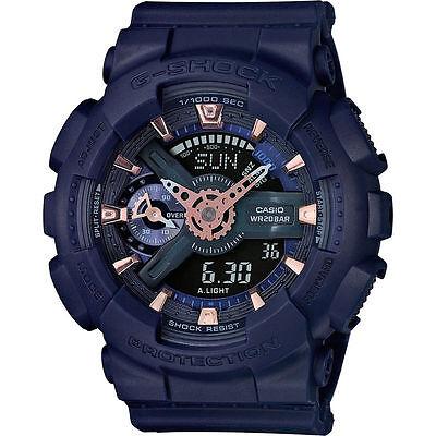 Casio G-Shock Military Blue Resin Strap Women's Watch GMAS110CM-2A
