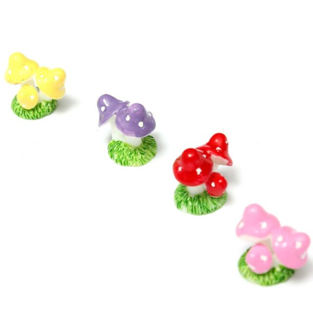 4pcs Mini Mushroom for Miniature Plant Pots Fairy Decor Garden FP6