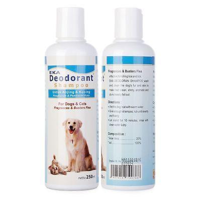 Eka Deodorant Shampoo for CAT DOGS Fragrance Effective Kills Flea Mites Lice VV