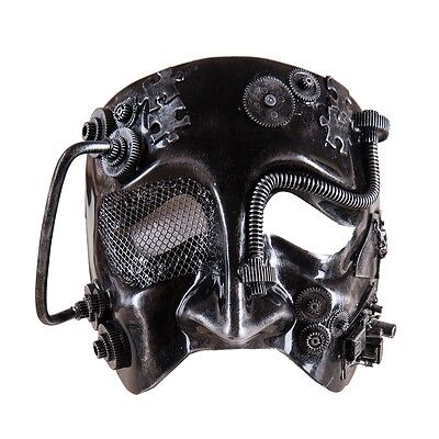 "MSK72054 7.5"" Cyborg Robot Mask Halloween Masquerade Party Decoration Steampunk"