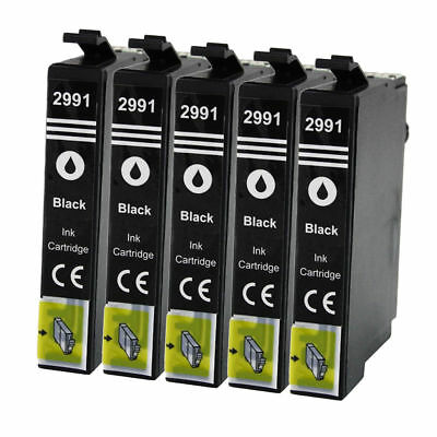 5x Drucker Patronen schwarz kompatibel für EPSON XP345 XP352 XP355 XP430 Series