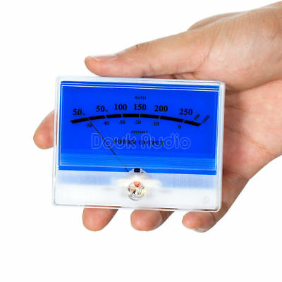 1pc Panel Vu Meter Preamplifiers Audio Db Level Header Power Indicator Lake Blue