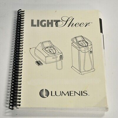 Lumenis Lightsheer Diode Laser Operator Reference Guide English Spanish French..
