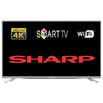 """Sharp 49"""" Smart LED TV Ultra HD 4K With Freeview HD Tuner Wi-Fi"""