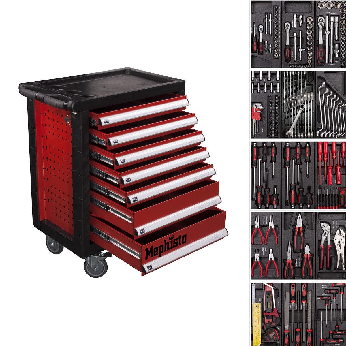 XXL Werkzeugwagen mit7 Schubladen inkl.5 mit Werkzeug CRV Werkstattwagen gefüllt